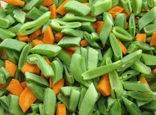 Fresh Pieces Of Vegetables Stock Photo
