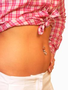 Free Belly Button Jewelry. Royalty Free Stock Photos - 3665028