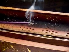 Incense Stick Smoking Royalty Free Stock Image