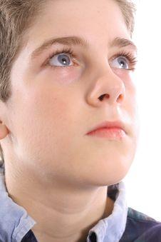 Free Blue Eyed Boy Thinking Stock Photo - 3665150