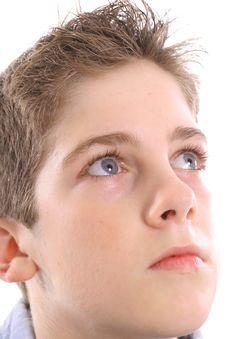 Free Blue Eyed Boy Thinking Upclose Royalty Free Stock Photos - 3665158