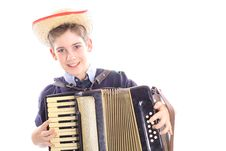 Free Young Boy Playing An Accordion Stock Photography - 3665242