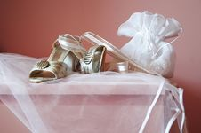 Free Bride Shoes And Dolly-bag Stock Image - 3665451