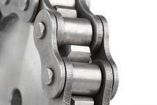 Free Metal Link Chain And Cogwheel Stock Photos - 3665773