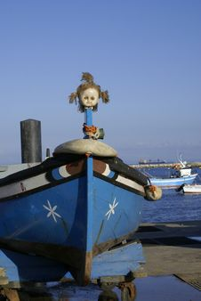 Free Fishing Boat With Dolls Head Stock Image - 3666701