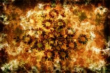 Free Grunge Background With Flowers And Scratches Stock Photography - 3666882