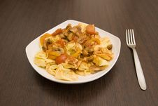 Free Tortellini With Vegetables Royalty Free Stock Photo - 3667415