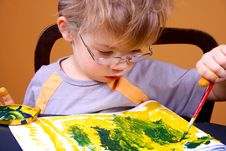 Free Boy Painting Stock Images - 3668264