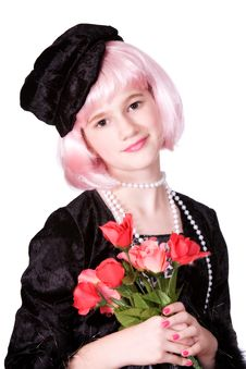 Free Diva Holding Roses Royalty Free Stock Photo - 3668745