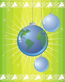Free Globe Christmas Ball Stock Image - 3669731