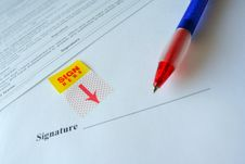 Sign Here Royalty Free Stock Photo