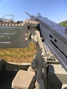 Free Military Jeep Machine Gun Stock Photo - 3669940
