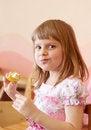 Free Girl Eating Fruit Stock Photo - 36601850