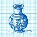 Free Drawing Of Jar On Graph Paper Vector Royalty Free Stock Image - 36602166