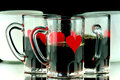 Free Three Coffee Shots Closeup Stock Images - 36602954