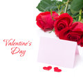 Free Card For Congratulation And Roses, Isolated Stock Photo - 36603060