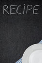 Free Recipe Title Is Written In Chalk On A Blackboard And Plate On Na Royalty Free Stock Photo - 36603165