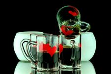 Four Coffee Shots Royalty Free Stock Images