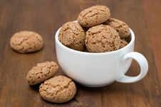 Biscotti Cookies In A Cup On Table Royalty Free Stock Photography