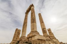 Free Temple Of Hercules In Amman, Jordan Stock Images - 36604074