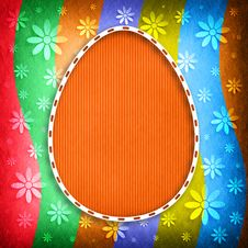 Free Shape Of Easter Egg On Colored Background Stock Image - 36604341