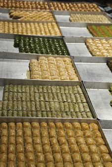 Free Turkish Baklava In A Shop Royalty Free Stock Photos - 36609028