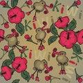Free Kiwi And Flowers Background Stock Images - 36611544