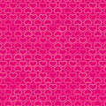 Free Hearts Contour Pattern In Shades Of Pink, Vector Royalty Free Stock Images - 36614289