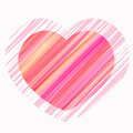 Free Painted Heart In Shades Of Red, Pink, Vector Royalty Free Stock Photos - 36615198