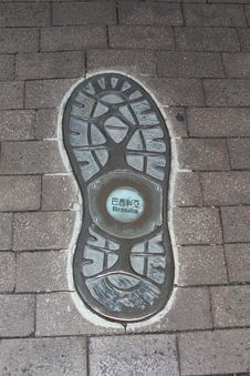 Free Artwork Of A Footprint In Brasilia, Brazil Royalty Free Stock Image - 36613776