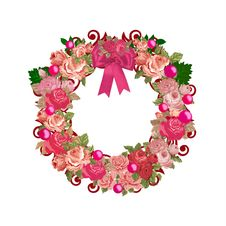 Free Pink Vintage All Purpose Floral Wreath Royalty Free Stock Photography - 36613937