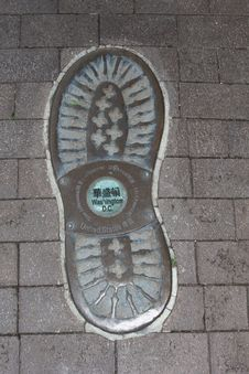 Artwork Of A Footprint In Washington DC, United States