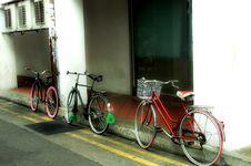 Free Three Bikes Stock Photography - 36616122