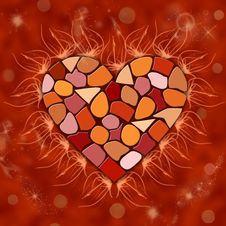 Free Mosaic Heart Stock Photography - 36617032