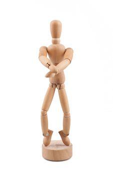 Free Wooden Model Dancing Stock Image - 36617231
