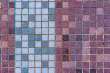 Free Old Mosaic Tiles Of Different Colors Lined Verticaly Stock Photo - 36617250