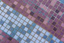 Free Old Mosaic Tiles Of Different Shades Lined  Diagonal Royalty Free Stock Photography - 36617657