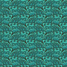 Free Blue Vector Seamless Pattern Stock Image - 36619301