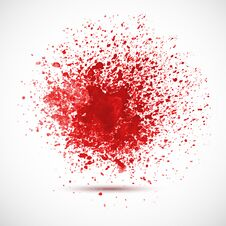 Free Background With Red Spots And Sprays. Royalty Free Stock Photography - 36620707
