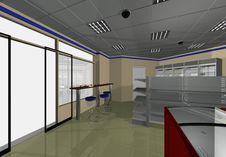 Free Interior Design Minimarket Royalty Free Stock Images - 36621849