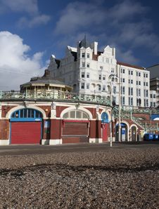 Brighton Beachfront Royalty Free Stock Photos