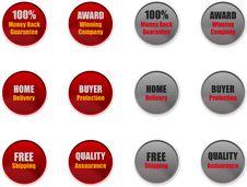 Free Sales & Marketing Badges For Websites Stock Photo - 36628730