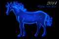 Free Blue Horse 2014 Royalty Free Stock Photography - 36635597