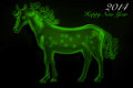 Free Green Horse 2014 Royalty Free Stock Photo - 36635645