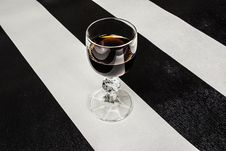 Glass Of Brandy Royalty Free Stock Photos
