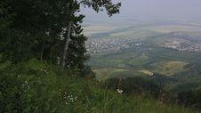 Panorama Balneological Resort Belokurikha From Mount Tserkovka. Royalty Free Stock Image
