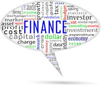 Finance And Accounting On Bubble Talk Formation Royalty Free Stock Photo