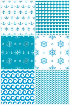 Free Sea Seamless Pattern Stock Images - 36633784