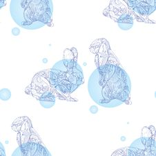 Free Seamless Pattern With Rabbits Royalty Free Stock Photo - 36633805