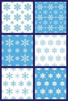Free Snowflakes Seamless Pattern Vector Stock Image - 36633831